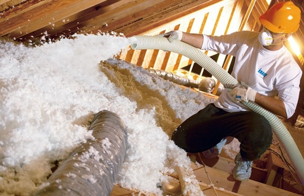 Glaswol spuitisolatie loft