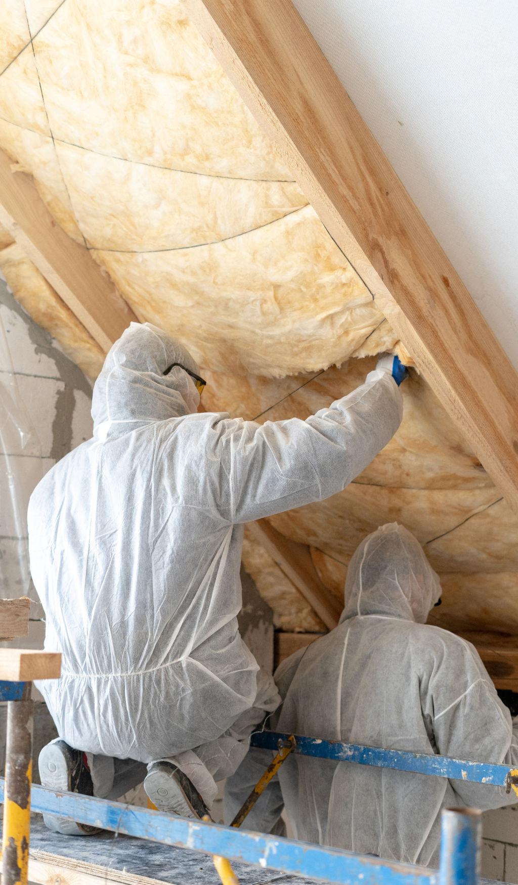 schuin dak isoleren tussen balken